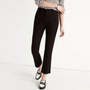 J Crew Black Teddie Crop Pants Cotton Blend
